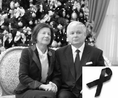 Late President Kaczynski with his Wife, Maria